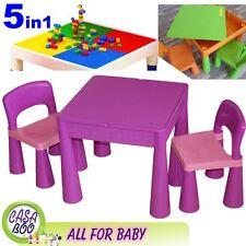 5 en 1 Multi Usage Table et 2 Chaises Set pour enfants 3+ activité ,Lego,Eau