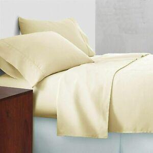 {1000-TC} 1-Piece Flat (Top) Sheet Super Soft Egyptian Cotton Ivory Color
