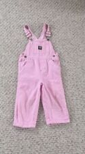 Girls Pink And White John Deere Bib Overalls Size 3t