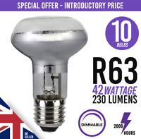 10x Eco 42w = 60w Dimmable Halogen Spot Light Bulb Lamp R63 E27 /ES Screw Fit