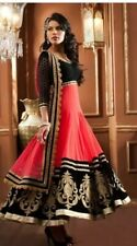 Coral, Black & Gold Lengha UK Size 8-10 (Worn  Once)