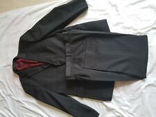 """MENS TAYLOR AND WRIGHT BROWNY GREY STRIPE SUIT 44"""" CHEST, TROUSERS 38/27"""""""