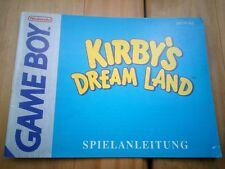 Manual de Instrucciones Kirby's Dream Land game boy GB en alemán.