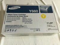 Brand New Genuine Samsung CLP-Y660B CLP-Y660B/SEE Yellow Toner (5500 pages)