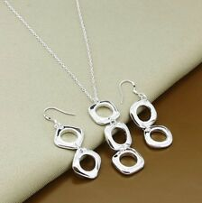 Mother's Day Gift 925 Silver Plated Squared Jewelry Sets GIFT FOR MOM