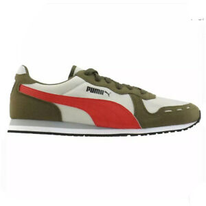 Puma Cabana Run Suede Men's Athletic Sneaker Running Shoe Olive Green Casual