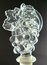New listing Mikasa Clear Glass Bottle Stopper Grape Cluster Fruit Collection (C23)