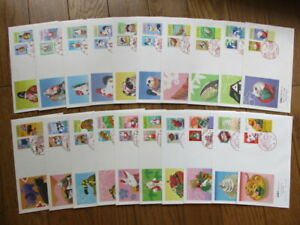 Japan Stamp First Day Cover New Year's Stamp 20 Covers (年賀) 1992~2001