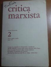 CRITICA MARXISTA - TINO FIORITO - EDITORI RIUNITI -- 1976 - M