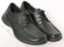 NEW Hush Puppies Black Moc Toe 3 Eye Waterproof Casual Oxfords Men's US 9W