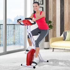Bicicleta de Fitness Plegable Bicicleta Estática de Spinning Pantalla LCD Carga