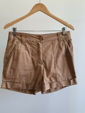 Country Road Womens Size 8 Spring/Summer Casual Tan High-Rise Cuffed Shorts EUC
