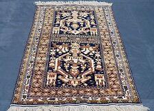 Orient puente los nómadas alfombra belutsch Balouch baluch finamente 150x095 cm parda