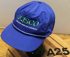 UCISCO A PRAXAIR SERVICE COMPANY TRUCKERS HAT BLUE SNAPBACK ADJUSTABLE VGC A25