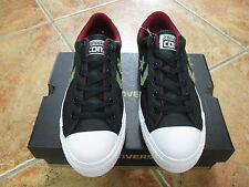 Converse Chuck STAR PLAYER LEATHER OX Gr.43 Farbe Black Fatigue Green Red Block