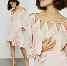 NEW BCBG MAX AZRIA EMBROIDERED CUTOUT COCKTAIL DRESS DTI6173387 SIZE S $448.00