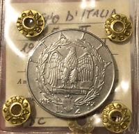 HN REGNO D'ITALIA Vittorio Emanuele III 1942 Lire 2 Ni FDC MOLTO RARA  sp223