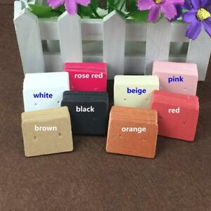 Kraft Paper Ear Studs Hang Tag Jewelry Display Cards 100 Pieces Earrings Storage