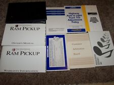 1995 Dodge Ram Pickup Owner Operator Manual LT Work Special 3.9L 5.2L 5.9L V6 V8