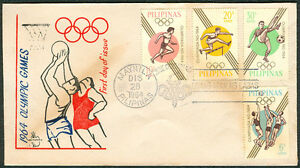 1964 Philippines OLYMPIC GAMES First Day Cover - B