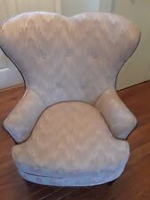 Vintage Wing Arm Chair with Wood Trim (Local Pick-Up Only)