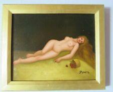 Gemälde Ölbild Frauen Akt Erotik Signiert