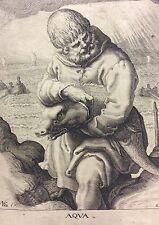 Jacob de Gheyn II d'après Zacharias Dolendo (attribué) L'eau C 1595 XVIe