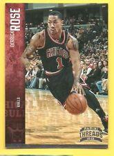 2012-13 Panini Threads Derrick Rose #15 SP Silver #92/99 Chicago Bulls