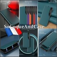Etui coque housse Cuir PU Leather View Window Wallet Case Cover Xiaomi Poco M3