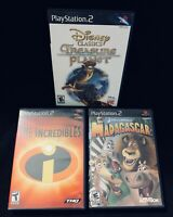 Kids Movie Game Lot (The Incredibles, Madagascar, Treasure Planet) PS2 *TESTED