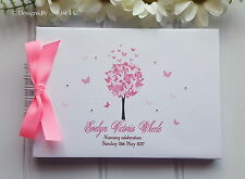 PERSONALISED BUTTERFLY CHRISTENING*NAMING * BAPTISM GUEST BOOK SCRAPBOOK ALBUM