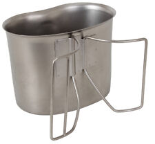 Stainless Steel GI Style 1 Quart Camping Canteen Cup Rothco 512 NEW