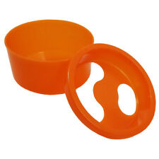 Acetone Resistant Round Style Manicure Bowl with Removable Lid – Orange