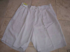 New Caribbean corded silk shorts beige khaki men sz 32