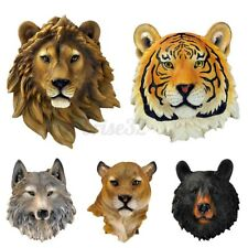 Modern Resin Wall Hanging Animal Heads Ornament Decor For Home Office Decor