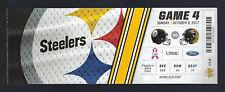 2017 NFL JACKSONVILLE JAGUARS @ PITTSBURGH STEELERS FULL UNUSED FOOTBALL TICKET