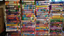 LOT OF 77 WALT DISNEY VHS MOVIE COLLECTION CLAMSHELL TAPES
