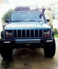 1988 1989 1990 1991 1992 Jeep Cherokee XJ Mad Angry Eyes Headlight Decal BAD BOY