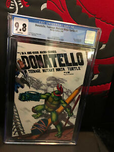 Donatello Teenage Mutant Ninja Turtles #1 CGC 9.8 1986 White Pages