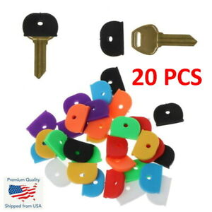 20x Key ID Caps Rubber Identifier Top Cover Topper Ring Mixed Colors Hat Shape