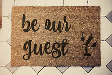 """Beauty and the beast """" door mat 60cm x 40cm be our guest"""