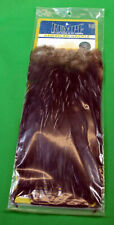 Whiting American BLACK Rooster Saddle Silver Grade Hackle Fly Tying Streamers