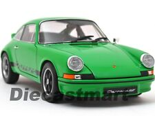1973 PORSCHE 911 CARRERA RS GREEN WITH BLACK STRIPES 1:18 MODEL CAR WELLY 18044W