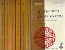 PIETRO GIANNONE ISTORIA CIVILE DEL REGNO DI NAPOLI MARZORATI 1992 NUOVO 7 VOLUMI