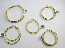 New 14k Karat Gold Plated Set of 5 Gold Hoop Earrings Exclusive Offer!!