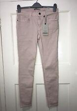 Zara Dusty Pink Super Stretch Mid Rise SKINNY Jeans Size UK 14 Ref 7850/304