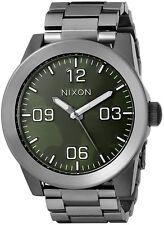 Nixon Men's A3462069 Corporal Ss 48mm Gunmetal Green Oxyde Dial A346-2069