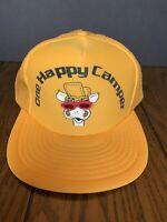 Vintage One Happy Camper Manufactured By Speedway Snapback Hat