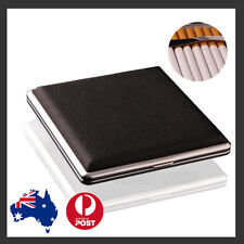 Stainless Steel + Pu Cigar Cigarette Tobacco Case Pocket Pouch Holder Box OZ