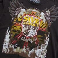 5ive Jungle Mens T Shirt Large Brown Yellow Kings County